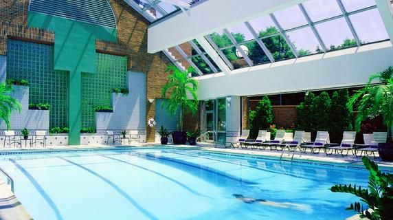 Royal sonesta 39 s pool in cambma with retractable roof cambridge for Hotels in cambridge with swimming pool