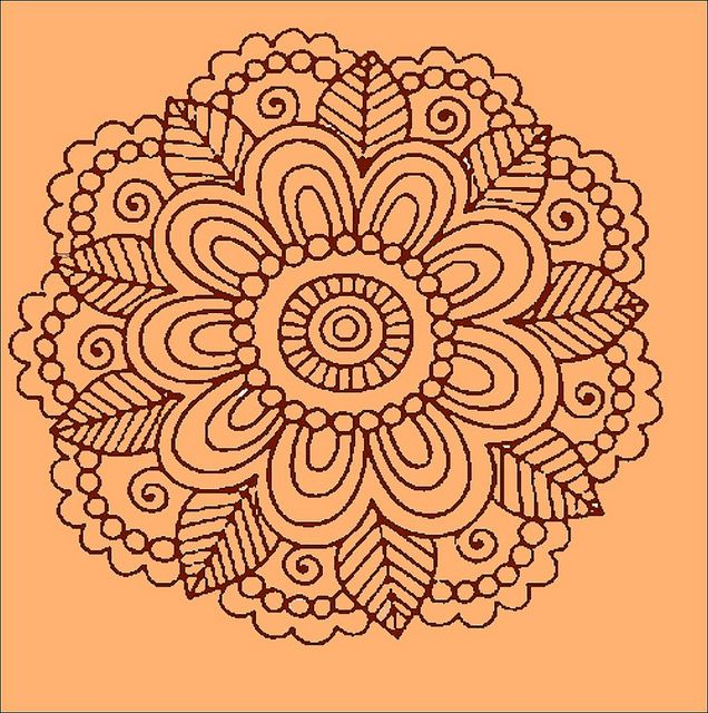Henna Tattoo Motif Mandala Coloring Pages Mandala Coloring Mandala Drawing