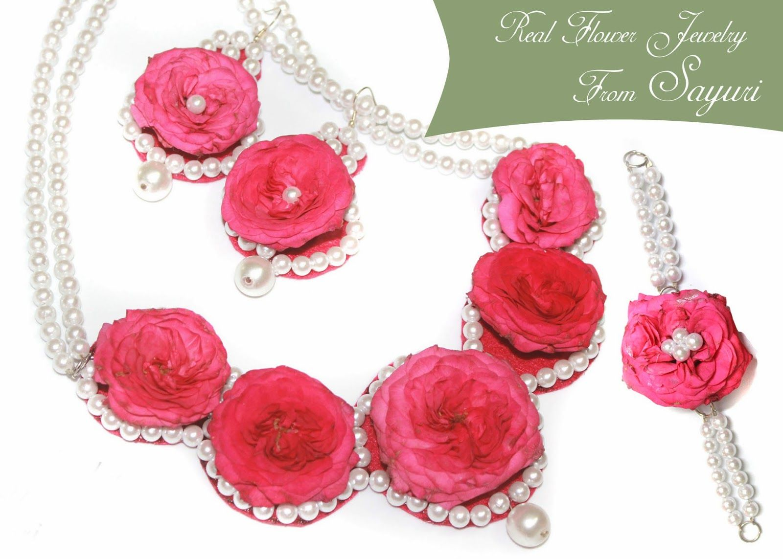 real rose necklace | Wedding flowers | Pinterest | Real flowers ...