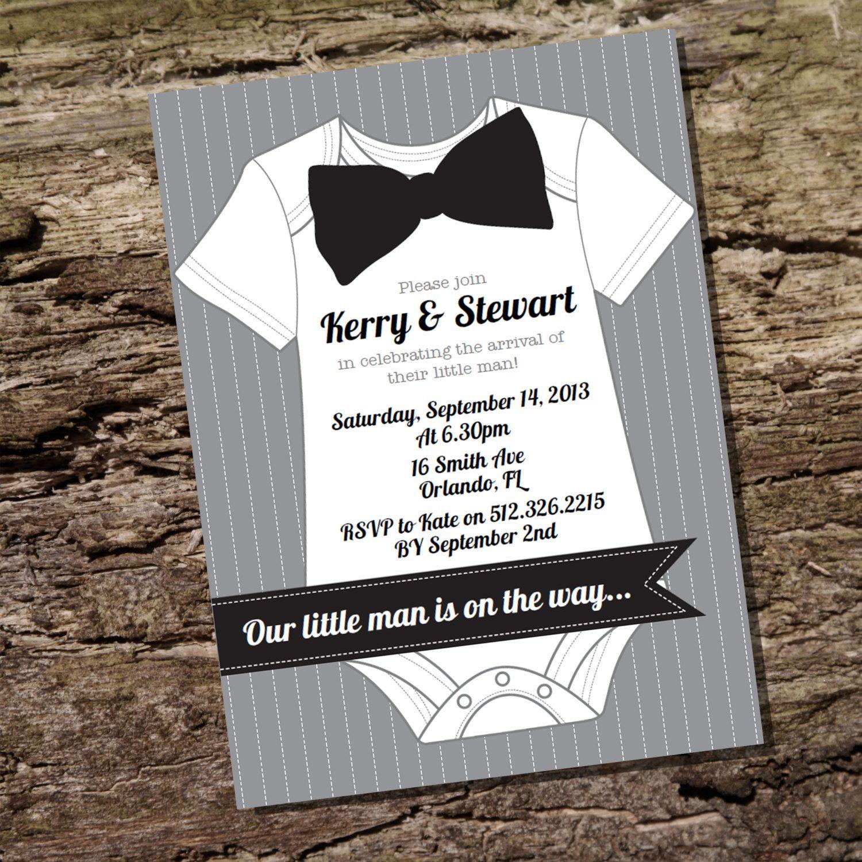 Little Gentleman Baby Shower Invitations Printable