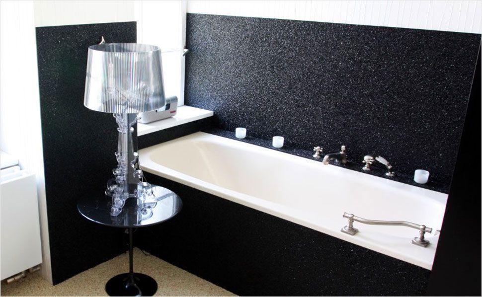 steine auf die wand eine moderne alternative zu badfliesen ist ein steinteppich f r die wand. Black Bedroom Furniture Sets. Home Design Ideas