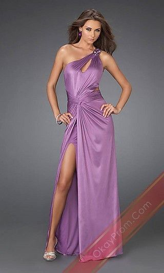 Long Lilac A-Line Sleeveless Prom Dress,Sexy Evening Gowns