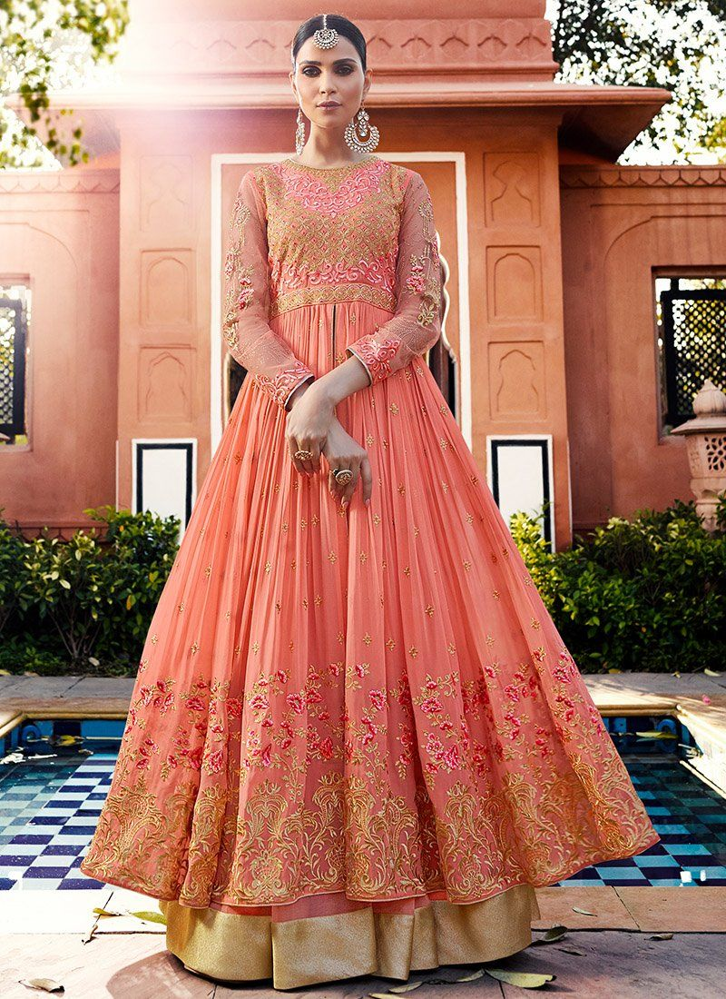 417f1a329f Light Pink Embroidered Royal Georgette Lehenga features a gorgeous royal  georgette top alongside a santoon inner and net ghagra. A chiffon dupatta  completes ...