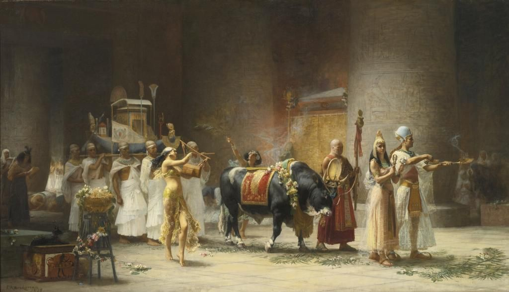 Frederick Arthur Bridgman / The Procession of the Bull Apis. 1879