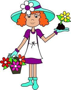 women clip art free   Gardening Clip Art Images Gardening Stock ...