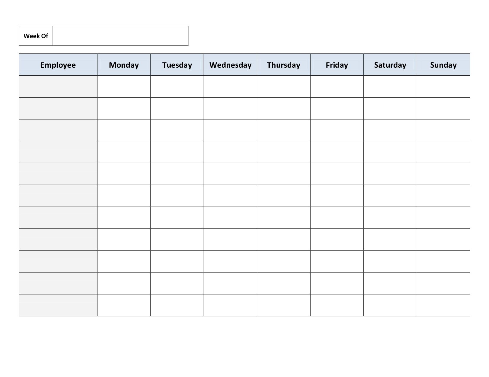 Weekly Employee Work Schedule Template Free Blank Schedule Pdf Get Cleaning Schedule Templates Schedule Templates Daily Schedule Template Employee work schedule template pdf