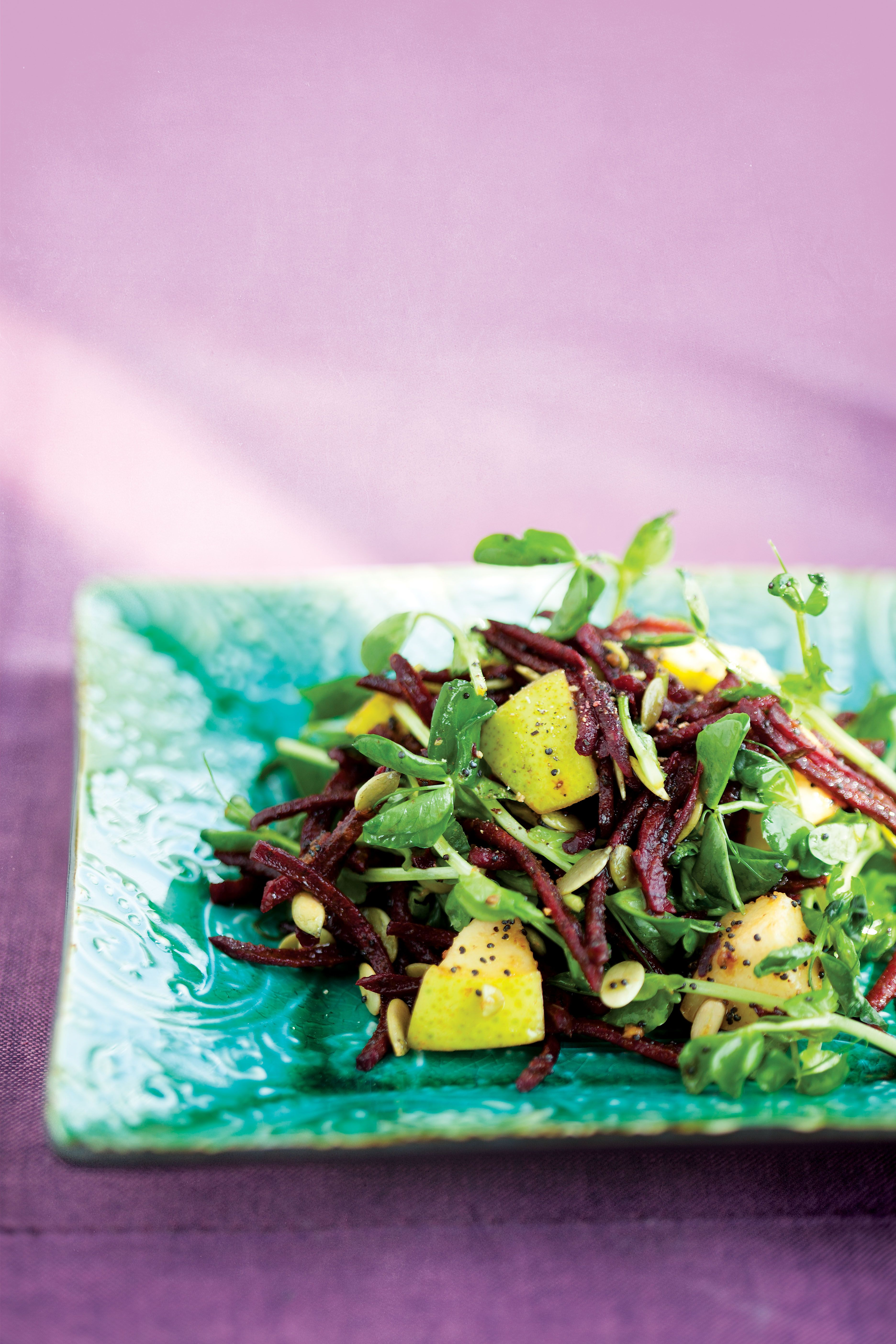 Beet Poppy Seed Salad for a comforting beet flavour with a fresh salad crunch. alive.com