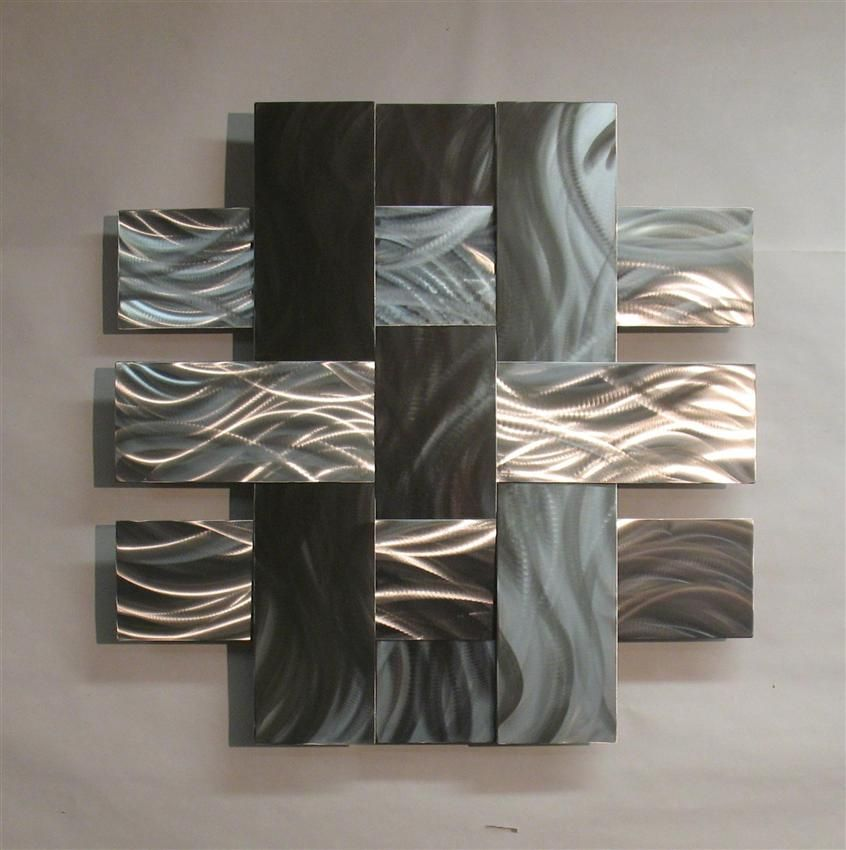 Contemporary Metal Sculptures Wall Art Sculpture Stainless 14s Atlanta Georgia