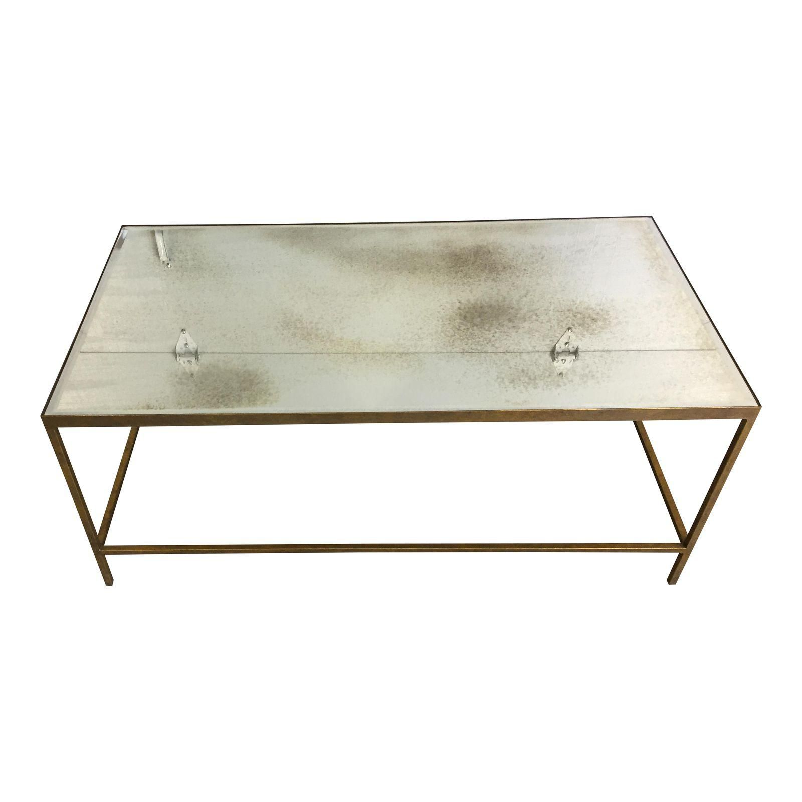 Goldleaf Antique Glass Coffee Table 44x24dx18h 500 Glass Coffee Table Types Of Coffee Tables Ottoman Coffee Table