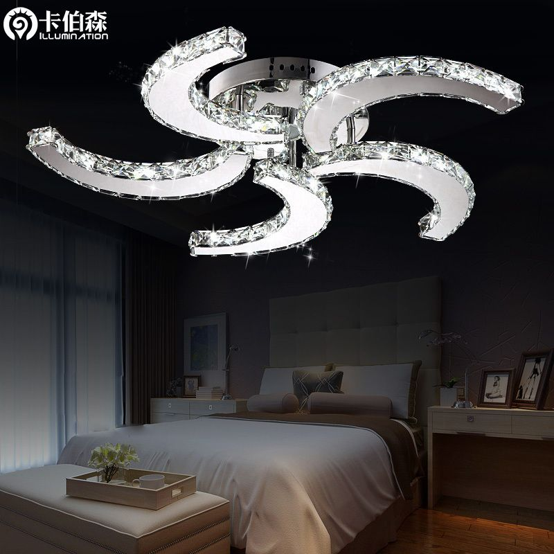 Ceiling fans with crystal lights fan ceiling light led bedroom lights living room lamps crystal