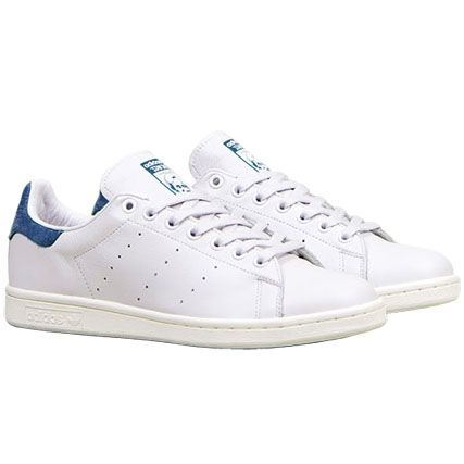 Baskets Adidas Stan Smith Originals Blanc Bleu Marine ...