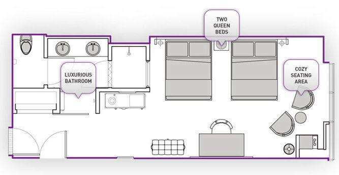 Cosmo City Suite Mit 2 Schlafzimmern Cosmo 2 Schlafzimmer City Suite