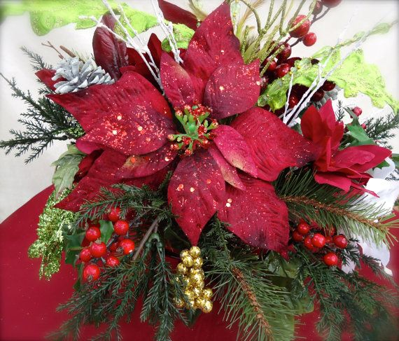 Christmas Centerpiece In Glass Bowl Dining Table CenterpieceChristmas Arrangement Dinning Winter