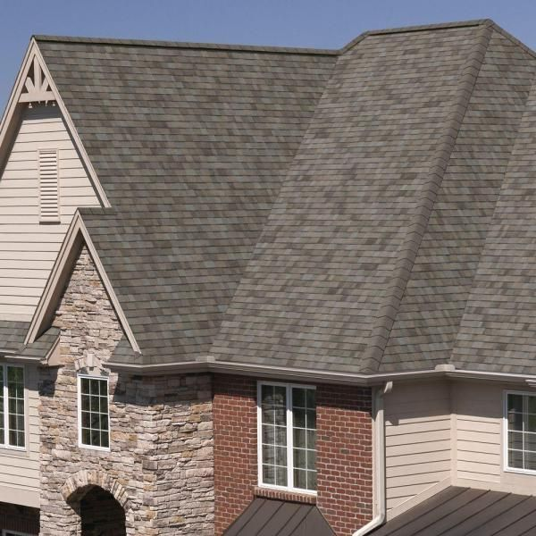 Owens Corning Trudefinition Duration Algae Resistant Driftwood Laminate Architectural Shingles 32 8 Sq Ft Per Bundle Td30 The Home Depot Architectural Shingles Driftwood Shingles Brick Exterior House