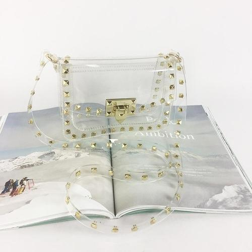 Transparent PVC Stylish Purse Clear Handbag Clutch Envelope Bag Quality Large