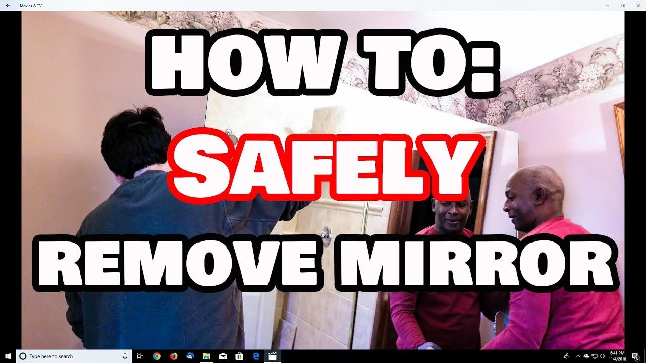 How to safely remove a glued on mirror from any wall