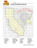 California wordsearch worksheet californiastates unit pinterest california wordsearch worksheet altavistaventures Image collections