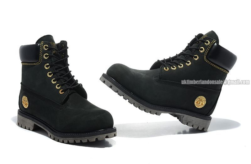 New Timberland 6 Inch Premium Boot For Men Black Gold Metal Logo  85.00 1571e75811d1