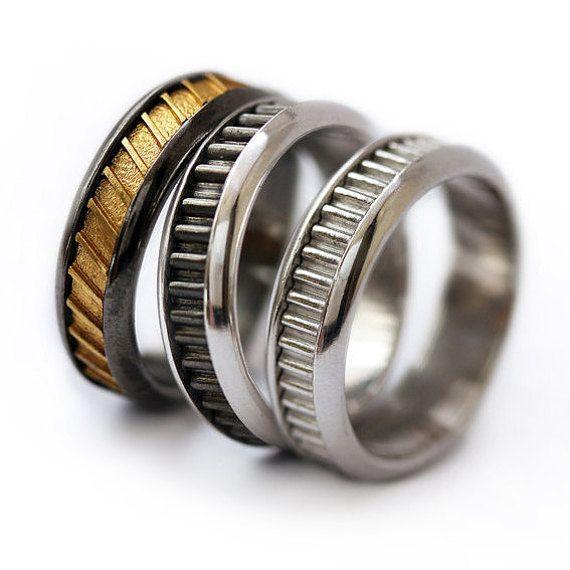 wedding band set man wedding ring his fine silver wedding engraved wedding band - Man Wedding Ring