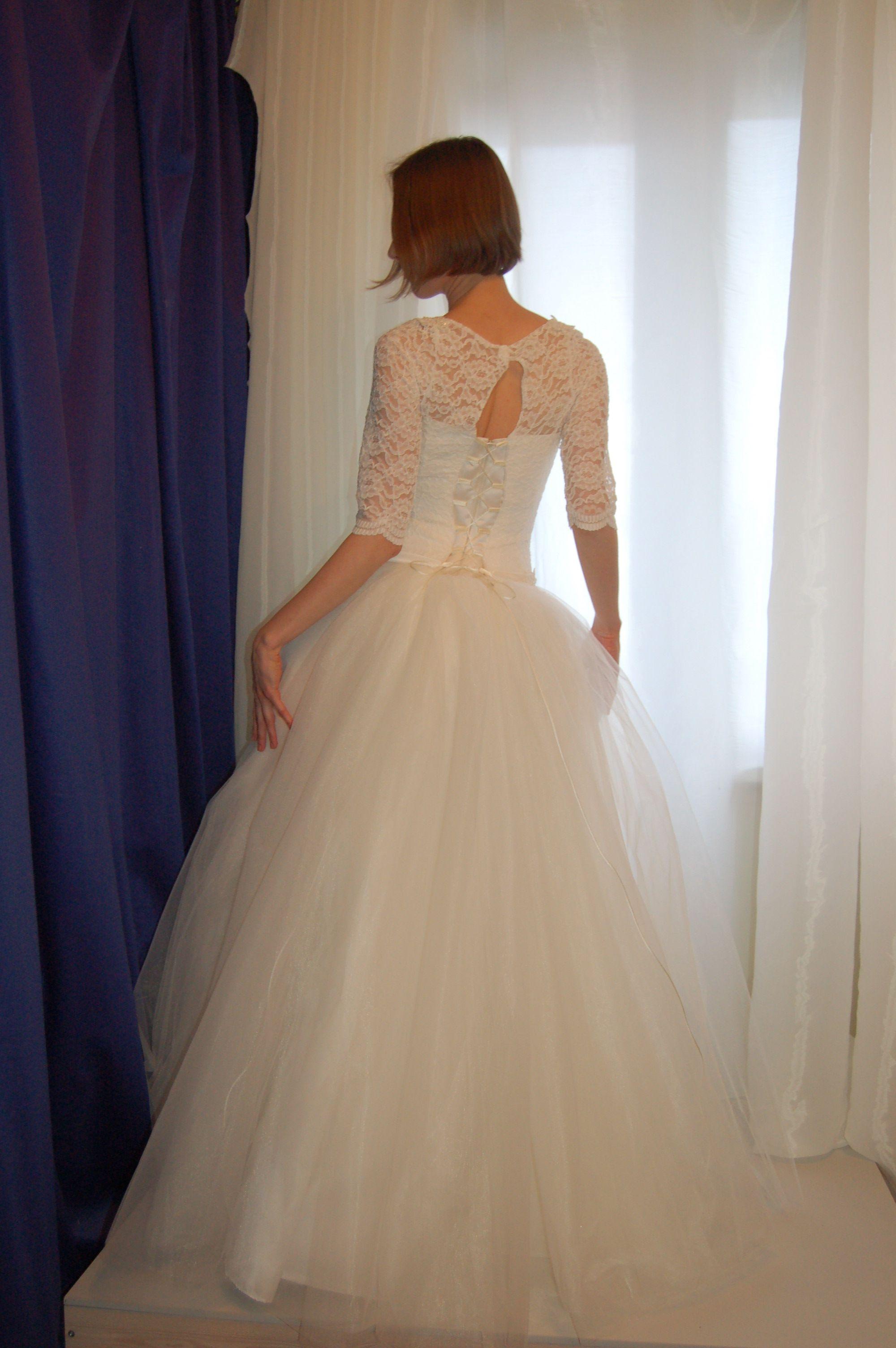 fedc54aeb5a Свадебное платье пышное цвета айвори