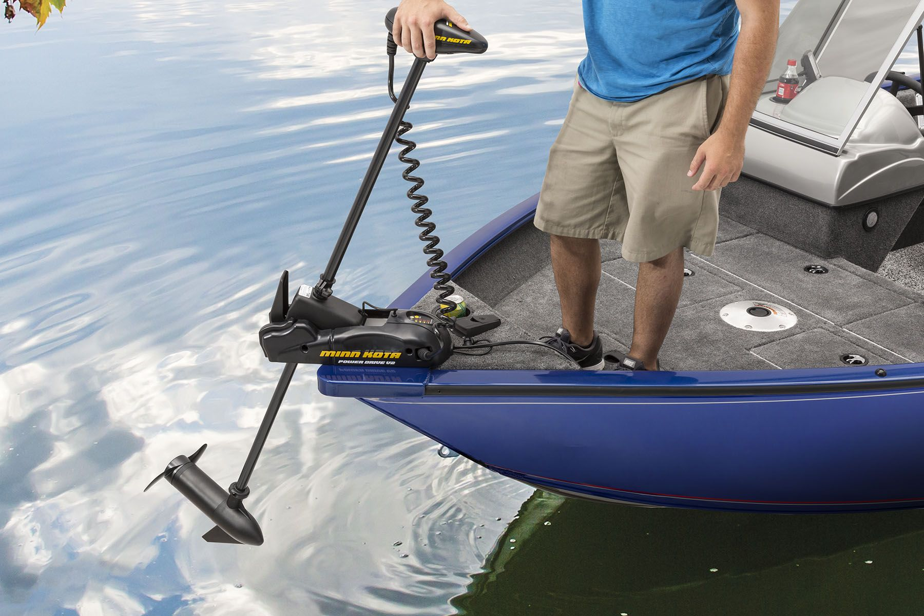 Trolling motor foot pedal storage keeps wiring from for Foot operated trolling motor