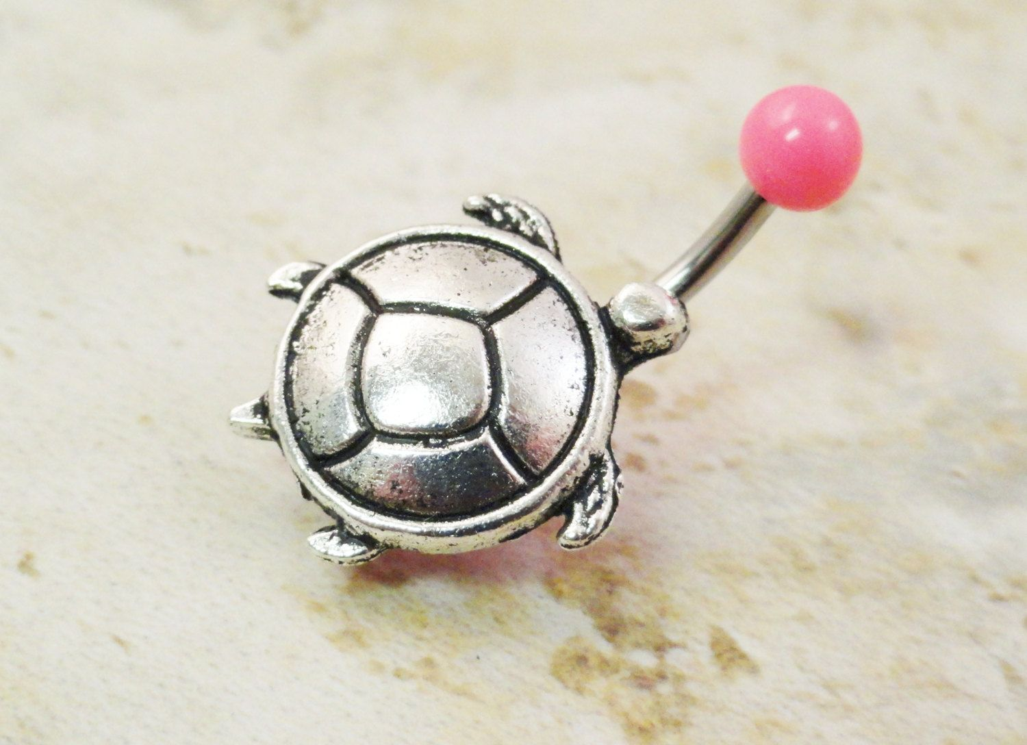 Belly button piercing scar  Pink Turtle Belly Button Ring Jewelry  via Etsy  Modify me