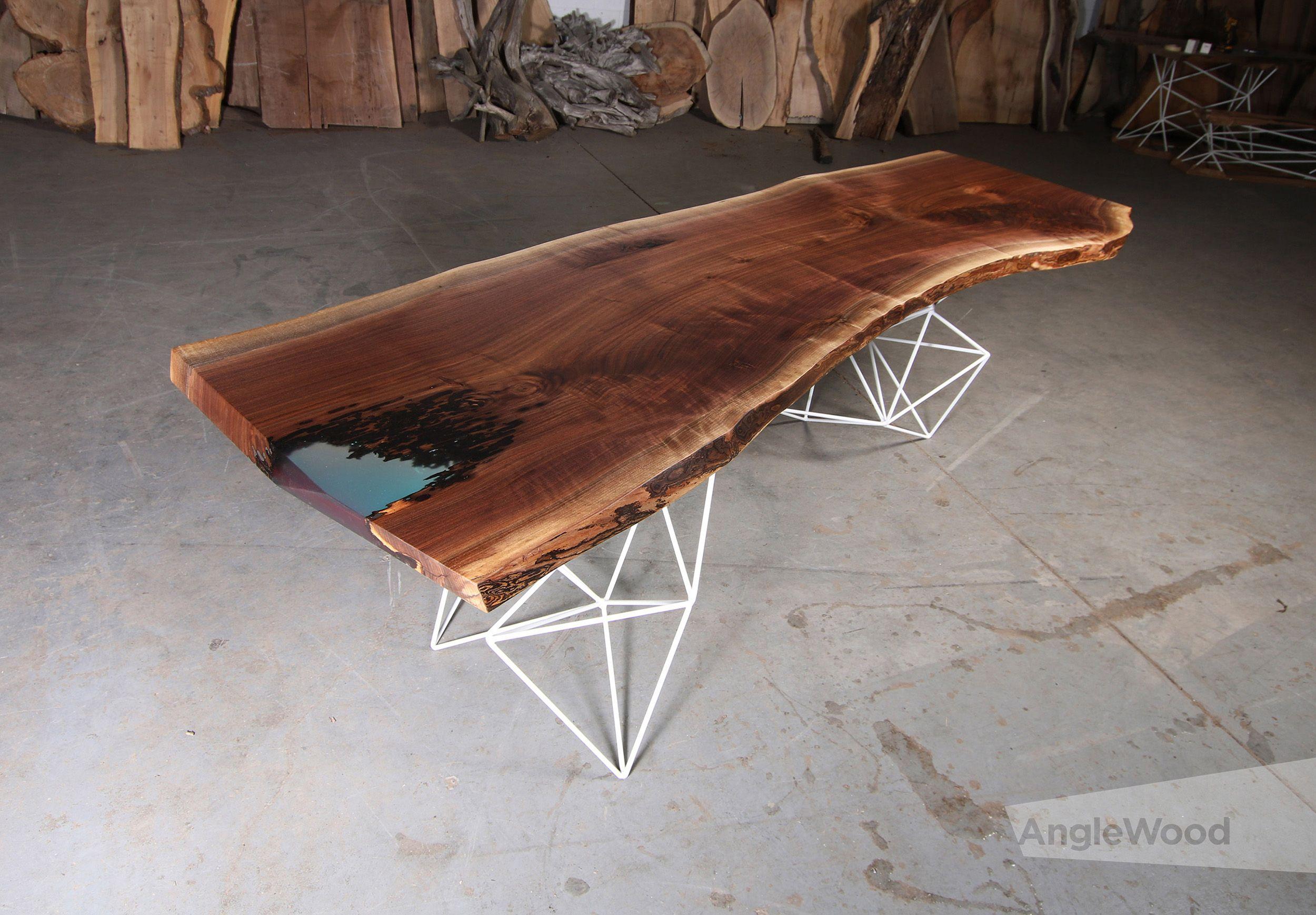 Slab Dining Table Geometric Legs