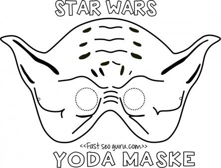 Printable Yoda Mask Template For KidsFree Print Out Star Wars Kidsfree Online Darth Vader