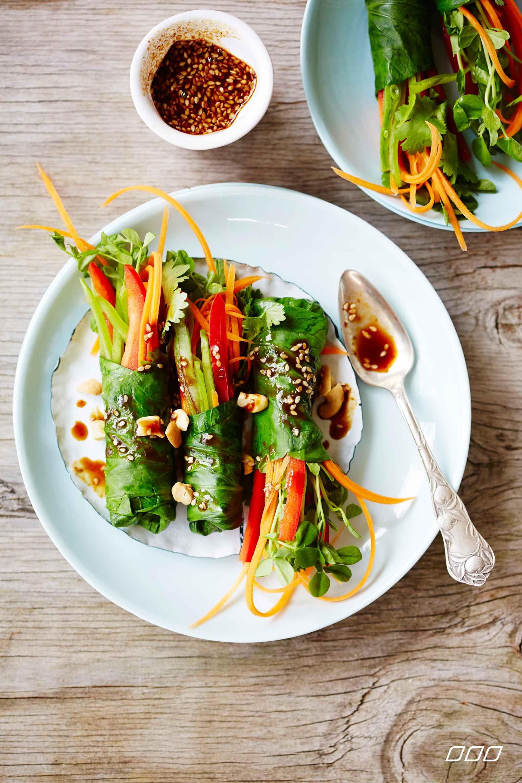 Thai style vegetable rolls http://www.lornajane.com.au/COOK2014/Nourish-Cook-Book-2014
