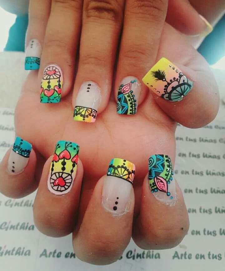 Pin de Marta Rubio en Nails | Pinterest | Uñas fáciles, Las mandalas ...