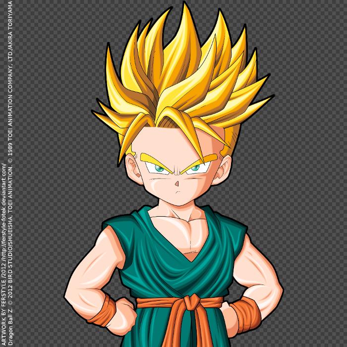Trunks Kid Super Saiyajin By Ferstyle-Fotek