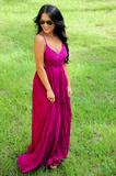 RESTOCK: Wherever Love Goes Maxi Dress: Wine | Hope's