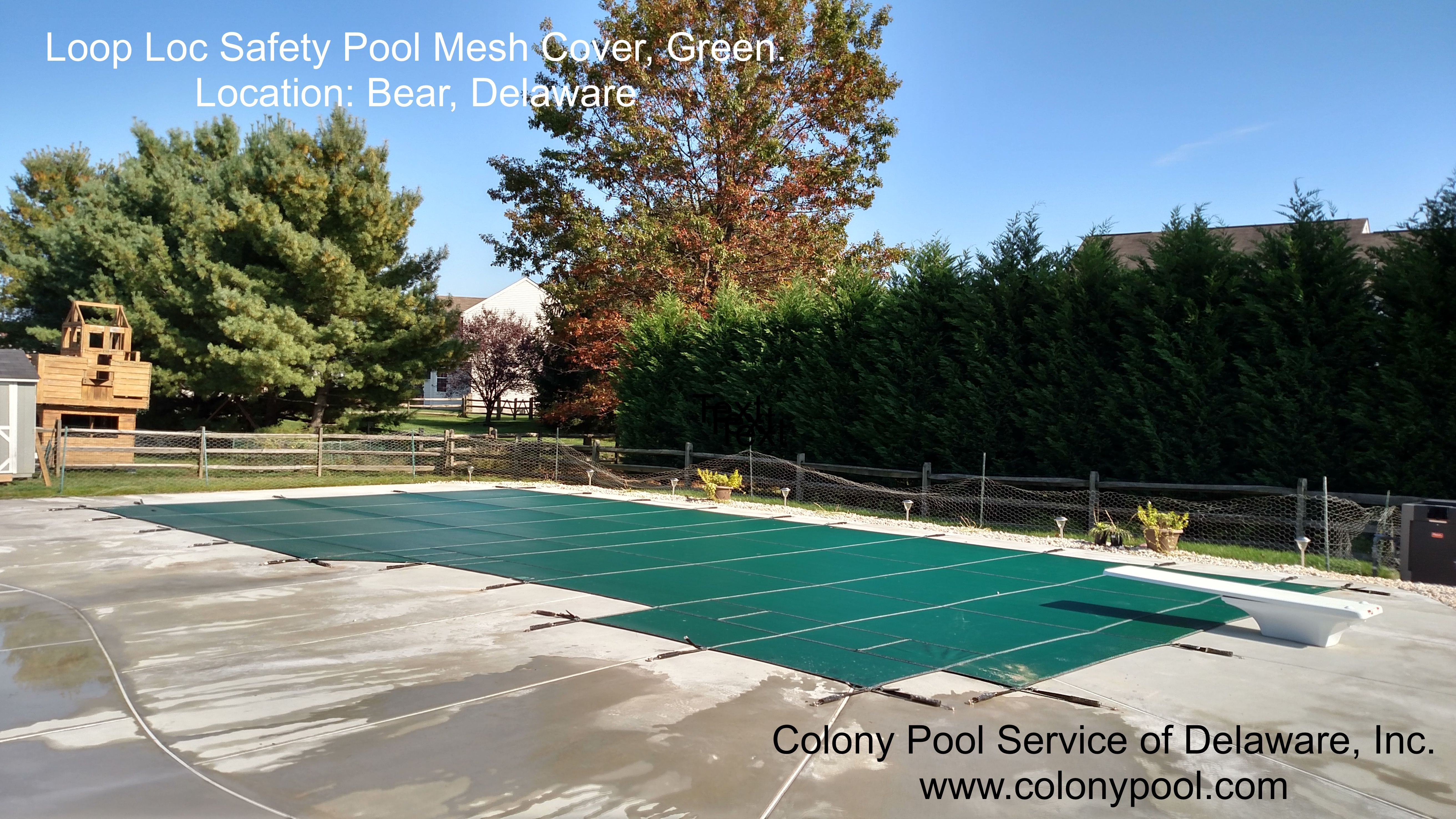 Loop Loc Safety Mesh Pool Cover Color Green Installed By Colony