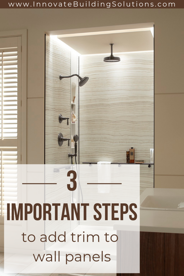 3 Steps To Add Trim And Borders Diy Shower Wall Panels With
