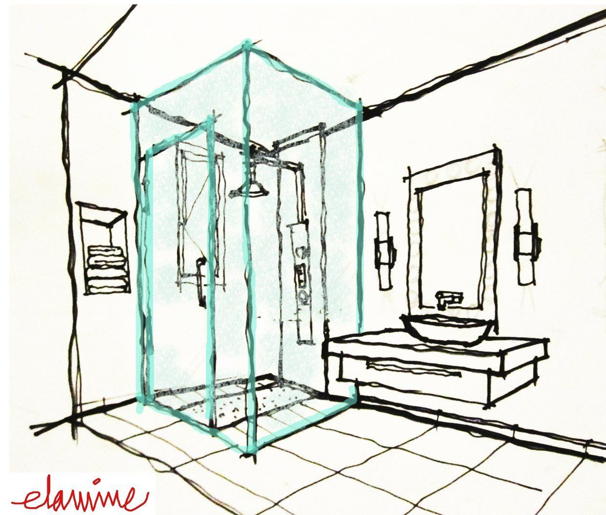 Bathroom drawing design - Bathroom Plans Sketches Google Search
