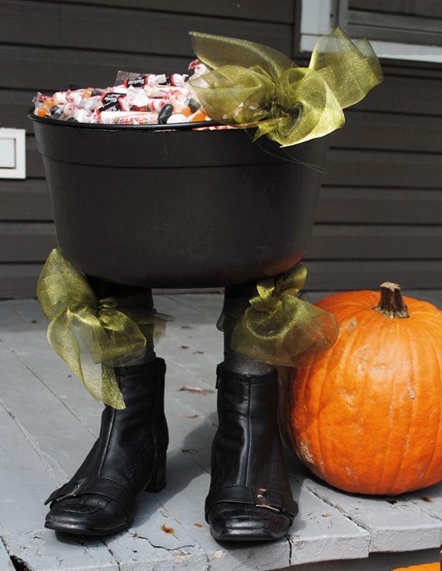 diy witchy feet cauldron blog hgtv canada halloween