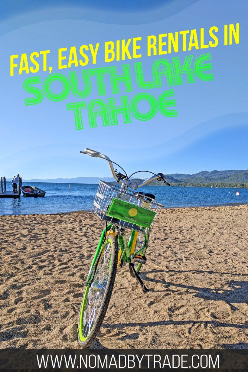 How to use the limebikes in south lake tahoe south lake