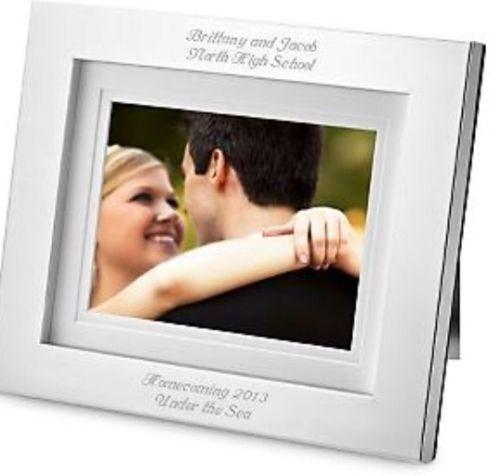 $100 Value!!! Silver Digital Photo Frame W/ Music Video Clock ...