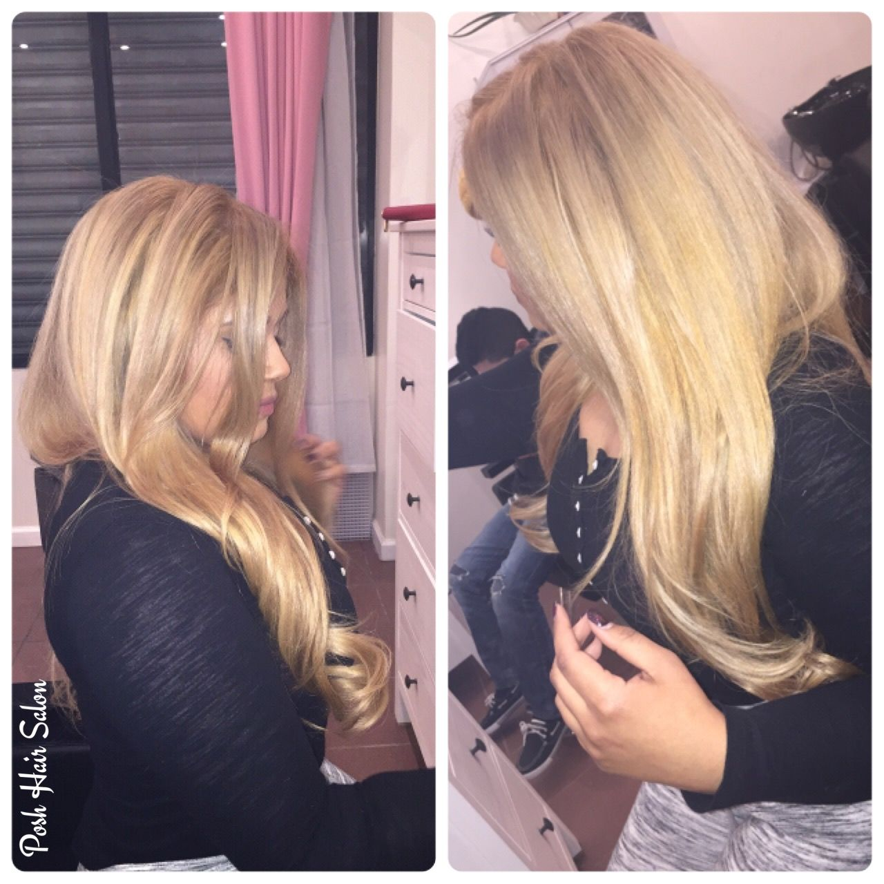 Blonde haircolor at Posh