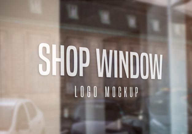 Shop Window Logo Mockup Logo Mockup Business Card Mock Up Logo Mockups Psd