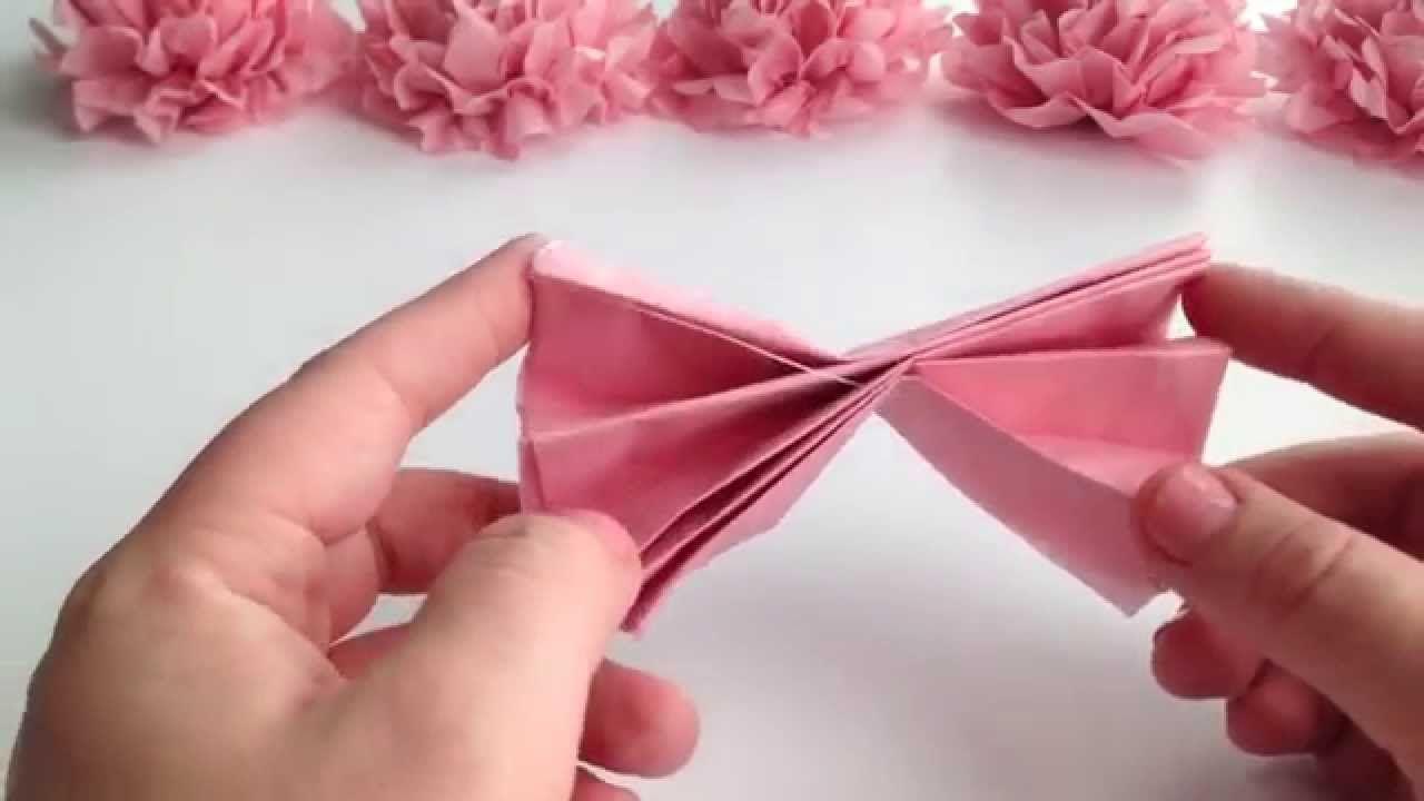 Diy tissue paper flower tutorial youtube marjories wedding diy tissue paper flower tutorial youtube mightylinksfo
