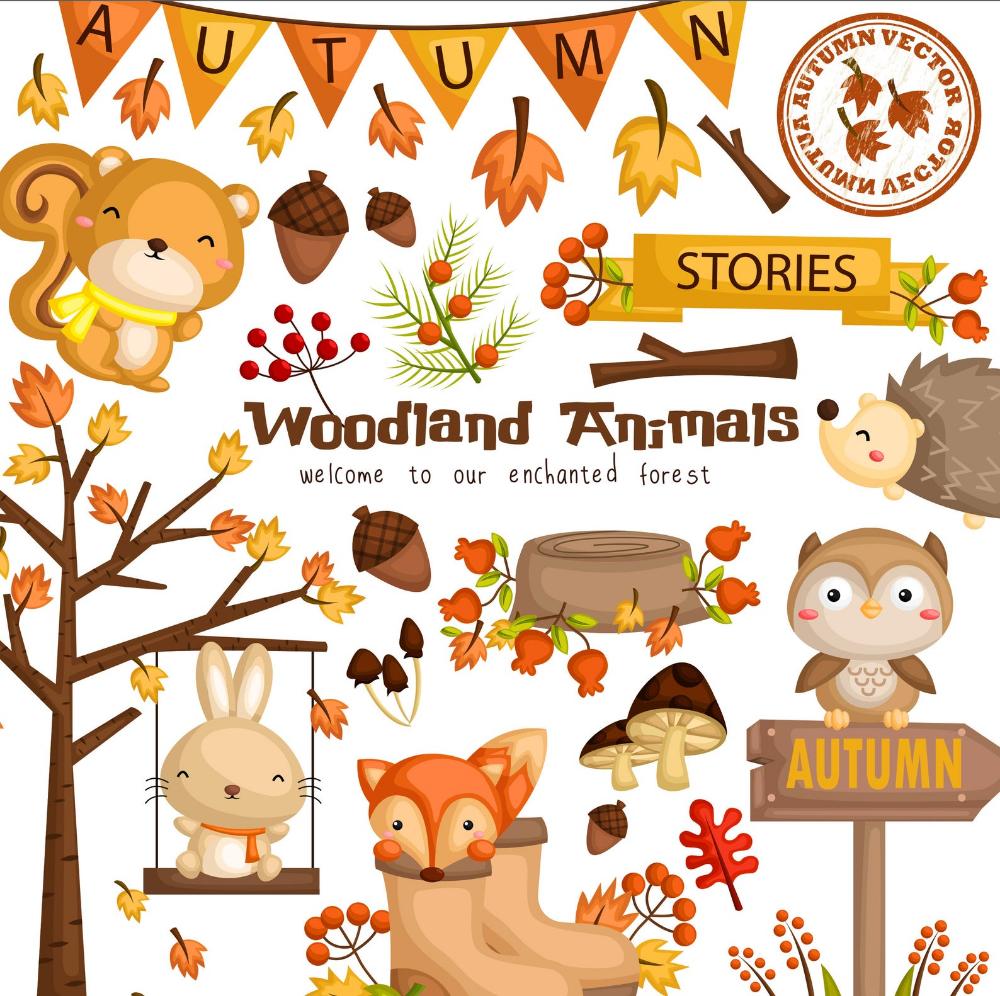 Autumn Season Animal Clipart Cute Animal Clip Art Seasonal Etsy In 2021 Animal Clipart Clip Art Free Clip Art