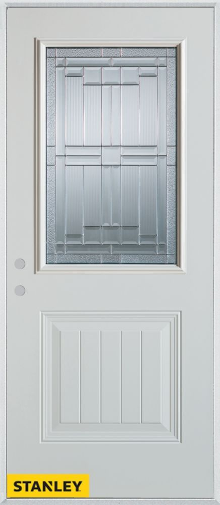 Front Doors · 34 Inch X 80 Inch Architectural Zinc 1/2 Lite 1