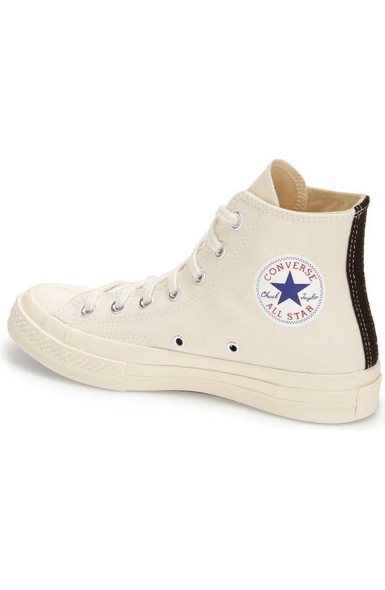 Inconveniencia femenino taburete  Comme des Garçons PLAY x Converse Chuck Taylor® Hidden Heart High Top  Sneaker (Men) | Nordstrom | Chuck taylors, High top sneakers, Sneakers men