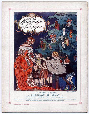 a la marquise de s 233 vign 233 chocolat de royat 8 bd de la madeleine aquarelle de joseph