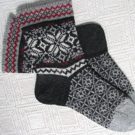 Wool socks for men - warm and helpful gift for men. Knit socks ...