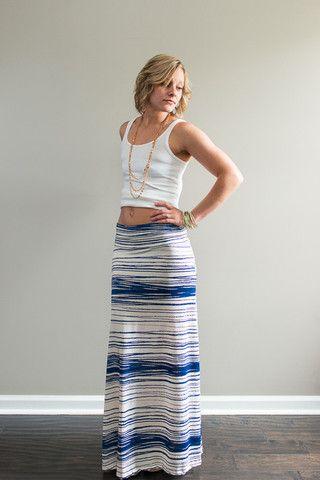 Scribble Print Maxi Skirt