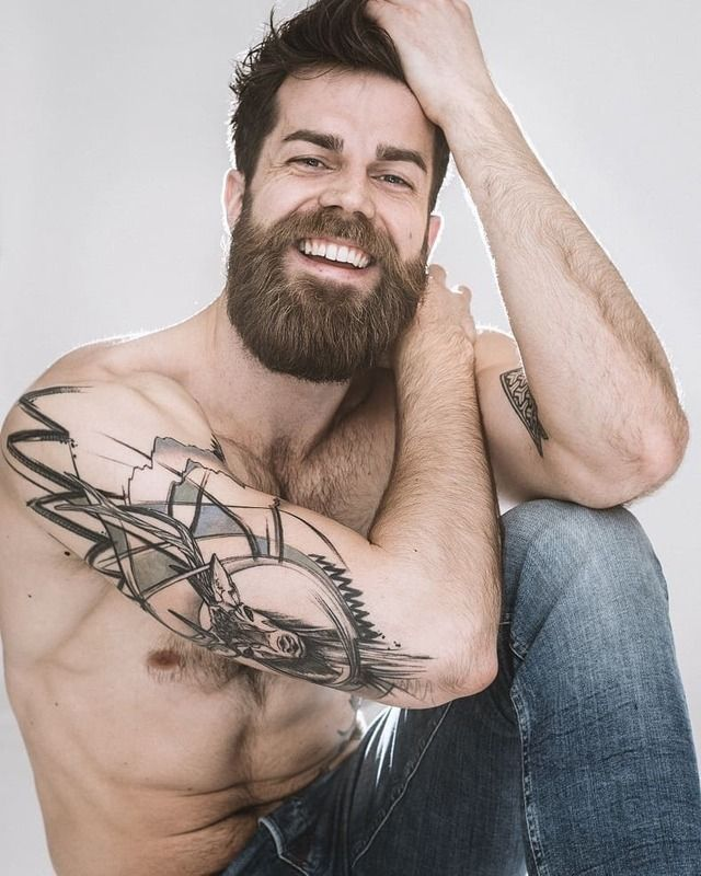 Beard + tattoo ideas for men. | Tattoo Design Ideas for Men ...