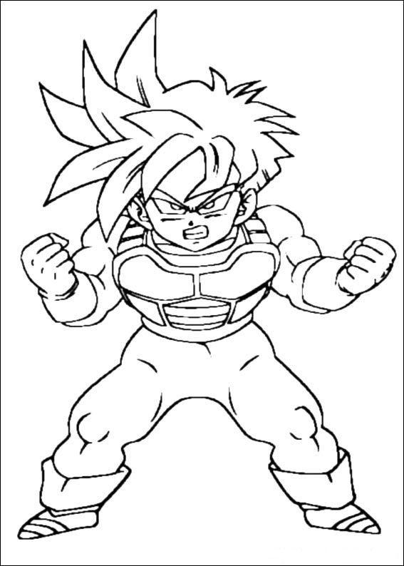 Coloring Page Dragon Ball Z Dragon Ball Z Dibujo De Goku