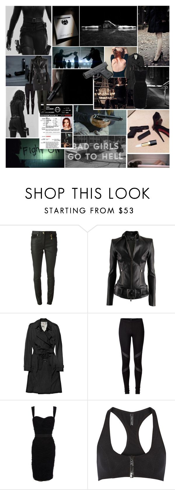 """""""like they've never seen a female of their species // more deadly than the male"""" by sofie-dreamy ❤ liked on Polyvore featuring American Eagle Outfitters, Versace, Jitrois, Burberry, Dolce&Gabbana and Lisa Marie Fernandez"""